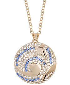 18k Gold Plated Swirling Sea Pendant Necklace