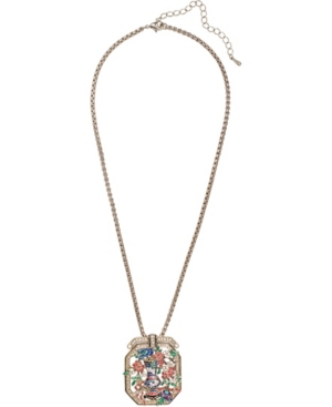 Grace Kelly Collection 18k Gold Plated Dried Flower Brooch and Pendant Necklace