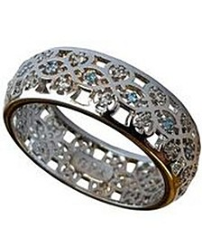 Rhodium Plated Scandinavian Wedding Ring