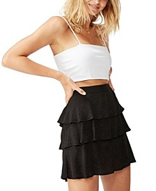 Byron Tiered Mini Skirt