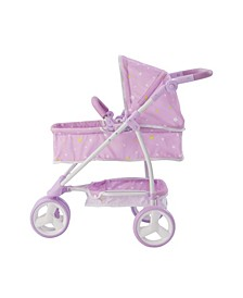Twinkle Stars Princess 2-in-1 Baby Doll Stroller