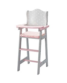 Polka Dots Princess Baby Doll High Chair