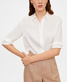Satin Finish Flowy Shirt
