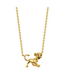 Gold Flash Plated Lion King Simba Necklace for Unwritten