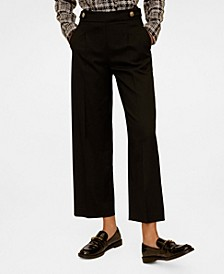 Pleated Culottes Trousers