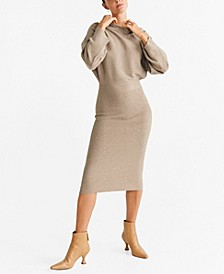 Contrast-Bodice Jersey Dress