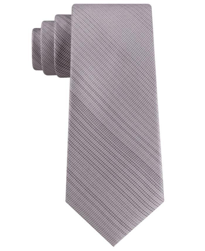 Calvin Klein Men's Classic Tonal Vertical Grid Tie  & Reviews - Ties & Pocket Squares - Men - Macy's