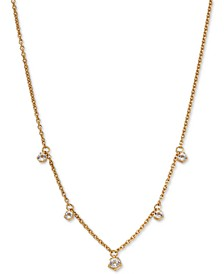 """Shaky Crystal Pendant Necklace, 16"""" + 1"""" extender"""