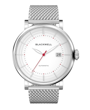 Silver Tone Dial with Silver Tone Steel and Silver Tone Steel Mesh Watch 44 mm