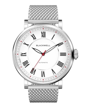 White Dial with Silver Tone Steel and Silver Tone Steel Mesh Watch 44 mm