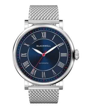 Sunray Dark Blue Dial with Silver Tone Steel and Silver Tone Steel Mesh Watch 44 mm