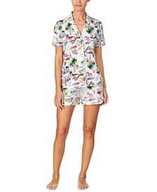Short-Sleeve Shirt & Boxer Shorts Pajama Set