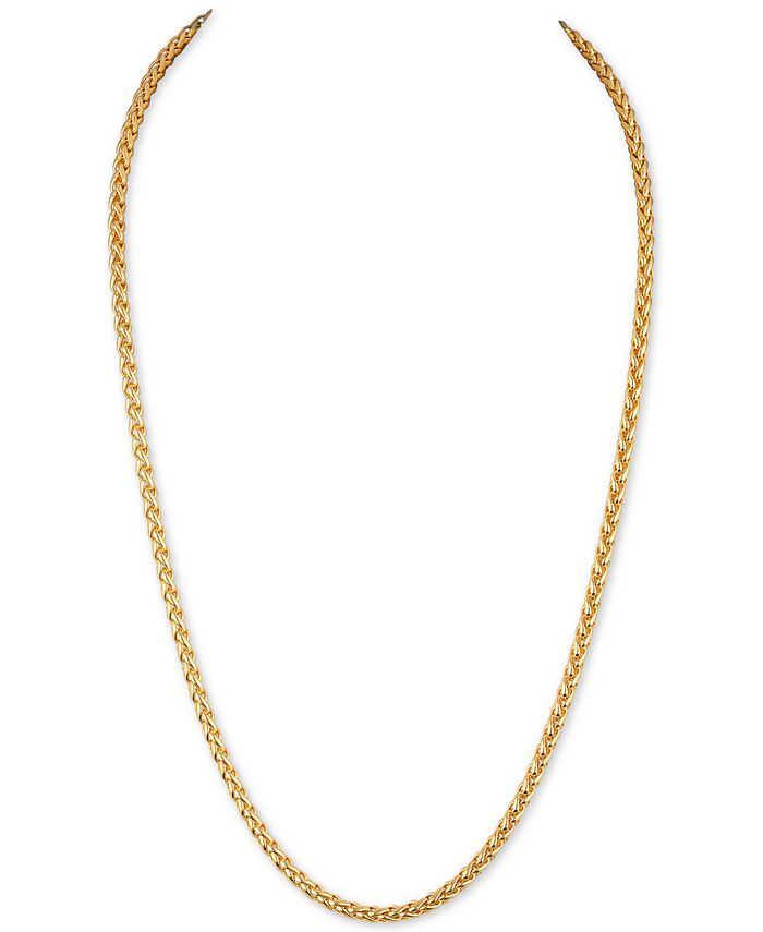 Esquire Men's Jewelry - Wheat Chain Link Necklace in 14k Gold-Plated Sterling Silver