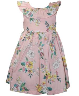 Blueberi Boulevard Little Girls Ruffled Floral Dress