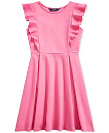 Big Girls Ruffled Stretch Ponte Dress