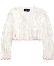 폴로 랄프로렌 여아용 크롭 가디건 Polo Ralph Lauren Toddler Girls Cropped Cotton Cardigan