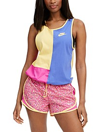 Women's Icon Clash Cotton Colorblocked Tank Top