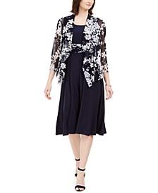 Petite Midi Dress & Floral Jacket