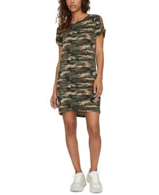 camouflage t shirt dress