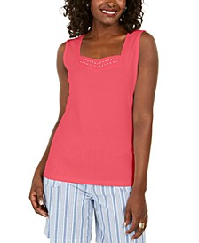 Studded Sweetheart Tank, Created for Macy's