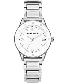 Women's Silver-Tone Bracelet Watch 33mm