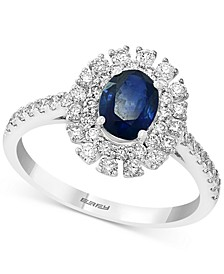 EFFY® Sapphire (7/8 ct. t.w.) & Diamond (5/8 ct. t.w.) Ring in 14k White Gold