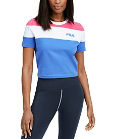 Maya Colorblocked Cropped T-Shirt