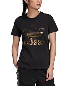 Women's Cotton Metallic-Accent T-Shirt