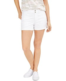 Juniors' Cuffed Colored Denim Shorts