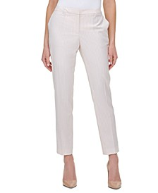 Radcliff Pinstriped Slim Ankle Pants