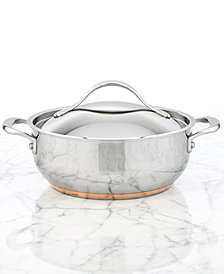 Anolon Nouvelle Copper Stainless Steel 4 Qt. Covered Casserole