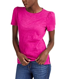 INC Plus Size Cotton Puff-Sleeve T-Shirt, Created for Macy's