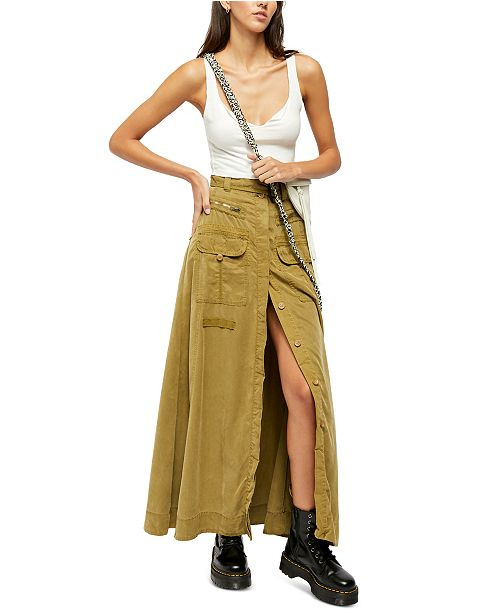 Free People The Feeling Of Falling Maxi Skirt