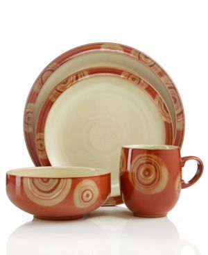Denby Dinnerware, Fire Chilli 4 Piece Place Setting