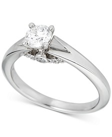 Round Solitaire Diamond Engagement Ring (5/8 ct. t.w.) in Platinum