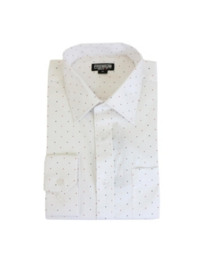 Men's Long Sleeve Polka Dot Dress Shirt
