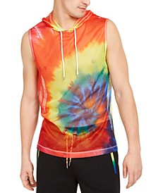 INC Men's Sleeveless Tie Dye Hooded Tank, Created for Macy's