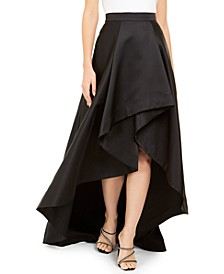 High-Low Mikado Skirt