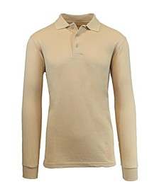 Men's Long Sleeve Pique Polo Shirt