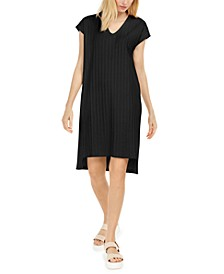 Shadow-Stripe Shift Dress