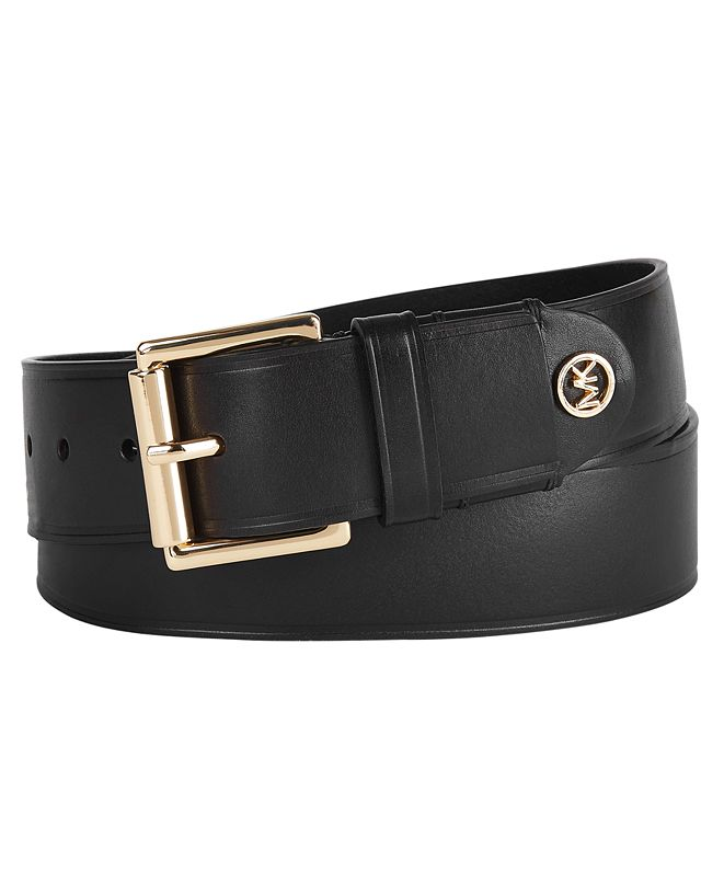 Michael Kors Burnished Leather Belt