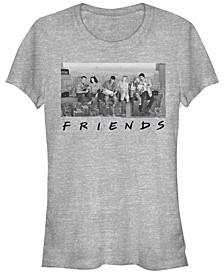 Friends Grayscale Skyline Group Portrait Women's Short Sleeve T-Shirt