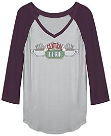 Friends Central Perk Coffee Mug Logo Raglan Baseball Women's T-Shirt