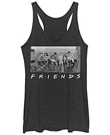 Friends City Skyline Group Portrait Tri-Blend Women's Racerback Tank