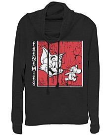 Tom And Jerry Frenemies Portrait Cowl Neck Women's Pullover Fleece