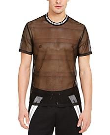 INC Men's Sheer Mesh T-Shirt, Created for Macy's