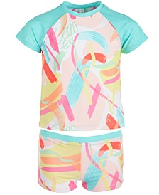 Big Girls 2-Pc. Printed Rash Guard, Created for Macy's