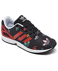 Big Boys' ZX Flux Casual Sneakers from Finish Line