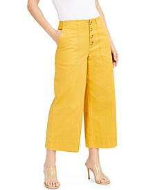 INC Button-Fly Culottes, Created for Macy's