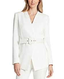 Petite Belted Twill Jacket